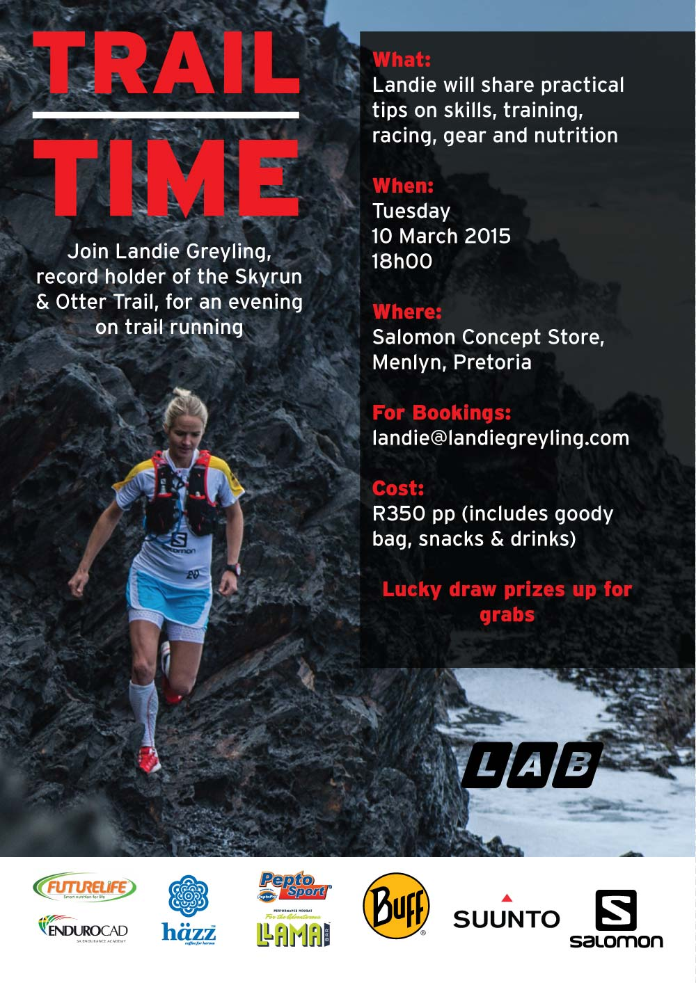 Next Trail Time Workshop: 10 March 2015, Pretoria Gauteng